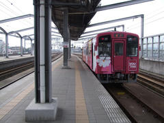 行橋駅に停車中の、平成筑豊鉄道車両