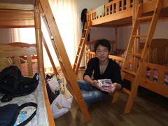 泊まった部屋…朝日が眩しいです!