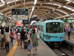 デパートの中ながら、ドーム型の屋根をした藤沢駅