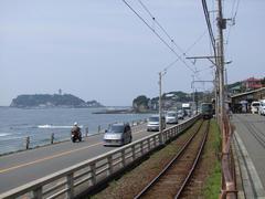 鎌倉高校前駅と、江ノ島