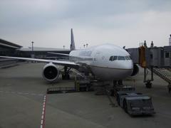 内装のリニューアルが行われていた、コンチネンタル航空のB777-200ER型