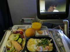 機内食写真…機内映画はデス・ノートを鑑賞中(笑)