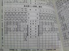 自分達が乗った列車も、もちろん掲載されていました(北京南駅~泰山駅のみを走る列車は唯一?)