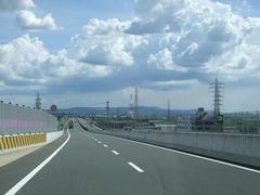明らかに空いている第2京阪道路(写真は入口付近)