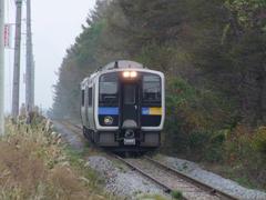 野辺山側から、鉄道最高地点に向けて列車が上ってきました