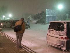 学校の外は…いわゆる雪景色!