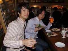 ライブ後に乾杯!