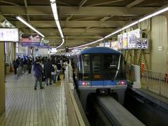 浜松町駅は、1線のみの狭い状態…
