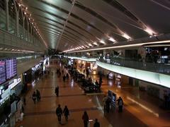 羽田空港ターミナル2の、拡張された部分です