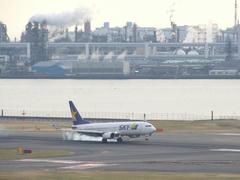 羽田空港で、スカイマークの機体を見掛けるのは本当に多くなりました