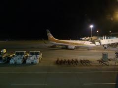 那覇空港に到着!(機体は全日空です)
