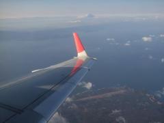 大島上空で、左に旋回します