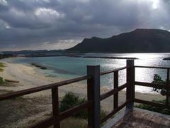 川井ダイビングからの朝の風景