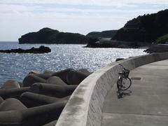自転車を借りて…慶留間島にて