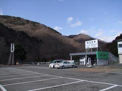 龍王峡への駐車場の脇に、龍王峡駅も位置します