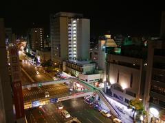 泊まったホテルから見た、那覇市内の眺め