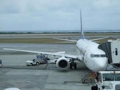 やはり、天気は曇っていました…那覇空港にて