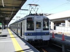 東武伊勢崎線の終点、伊勢崎駅にて
