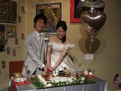 ケーキには、ピアノとサックスが…(笑)