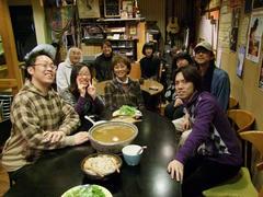 1日目、牧(大分)f Sound Cafe にて、皆で打ち上げ!