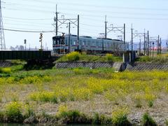 西日本鉄道甘木線の甘木駅付近にて