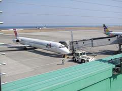大分空港は、海に面した空港です