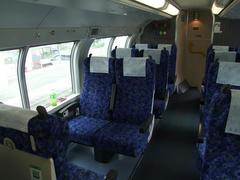 旅の初めは、まずはグリーン車から!