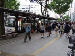 石巻行きの高速バスは凄い列が…
