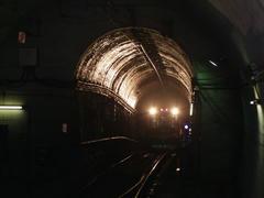 箱根湯本駅から列車が登ってきました…塔ノ沢駅より