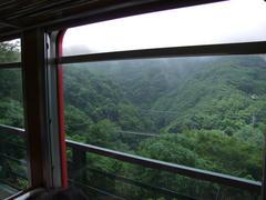 出山信号所から、早川橋梁を見下ろします
