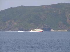 阿嘉港を出発して、那覇に向かう船も撮れました!