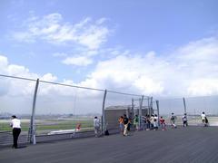 新しくオープンした、羽田空港第1ターミナルの展望デッキ