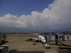正に、夏の雲!…という感じの羽田空港