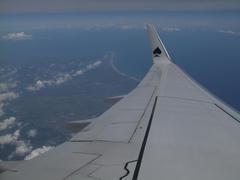 静岡県上空で海上に出ます