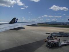 福岡空港は、本当に良い天気でした