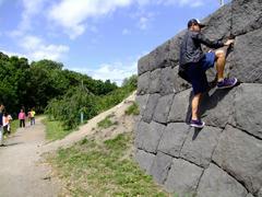 最近のトシさんは山登りに凝っているせいか、登れる所があると登ってしまいます