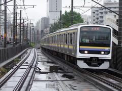 本千葉駅付近にて…背後は京成千葉線