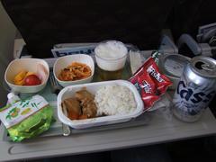 大韓虚空の機内食は美味しいと評判です