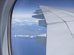 鳥取県は境港市の北側を飛行中