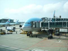 大韓航空の本拠地、仁川空港に到着!