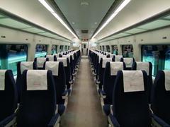 直通列車の車内