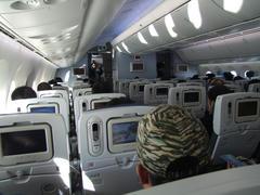 近代的な設備が揃っている機内