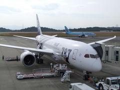 大韓航空のボーイング737と顔合わせ