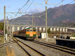 金島駅の先で、上越新幹線の高架橋を潜ります