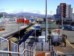 開発が盛んになっていた、群馬田原町駅