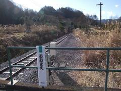 大前駅の先…。本当に行き止まり、終点です