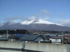 新幹線から見えた浅間山