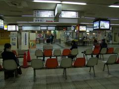 長野電鉄の長野駅改札付近