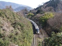 """371系""""あさぎり""""号が、沼津駅を目指します"""