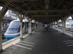 屋根に味がある沼津駅に到着!